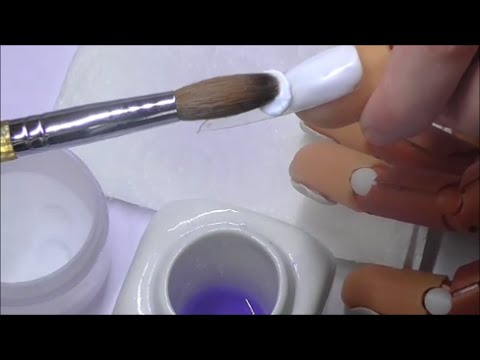 HOW TO KEEP YOUR BRUSH CLEAN DURING ACRYLIC APPLICATION | ABSOLUTE NAILS