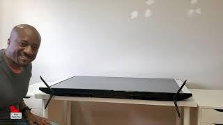03. How to install the legs on the Samsung TU8000 Crystal UHD 4K TV (2020)