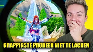 De GRAPPIGSTE PROBEER NIET TE LACHEN in FORTNITE!
