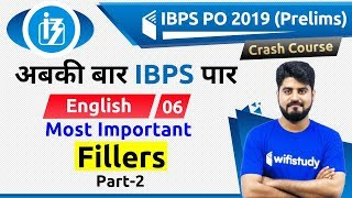 3:00 PM - IBPS PO 2019 (Pre) | English by Vishal Sir | Most Important Fillers (Part-2)