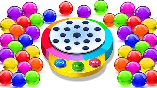 Learn Colors With Balls Finger Family Nursery Rhymes Dancing Balls On Finger Family Song by KidsCamp