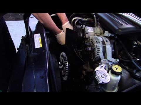 dodge durango 2002 pulley fan clutch replace