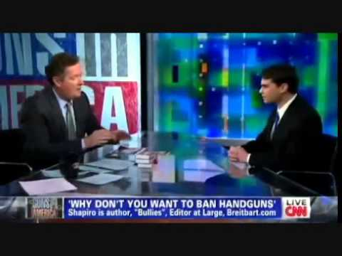 Ben Shapiro of Breitbart.com destroys Piers Morgan on Gun Control 01-10-13