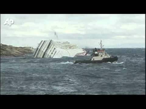 Raw Video: Oil Film Near Costa Concordia