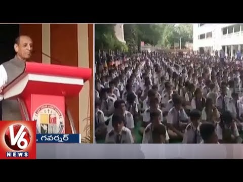 Governor Narasimhan Interacts With Abids Little Flower School Students | Hyderabad | V6 News