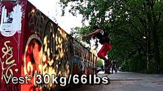 6 EXPLOSIVE Leg Workout!How to Jump Higher ! 66lbs weight Vest I Farid Berlin