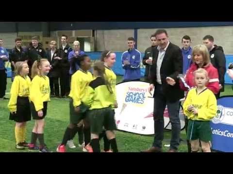 COMMUNITY: Malky Mackay and Development Squad at School Games