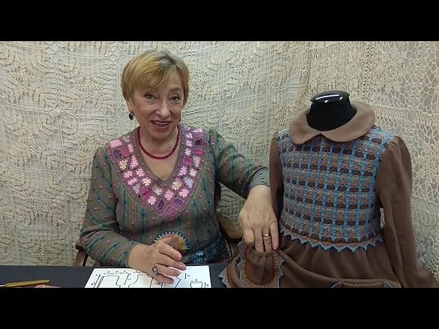 """Вязание крючком для детей от О.С. Литвиной. Платье """"Мэри"""""""