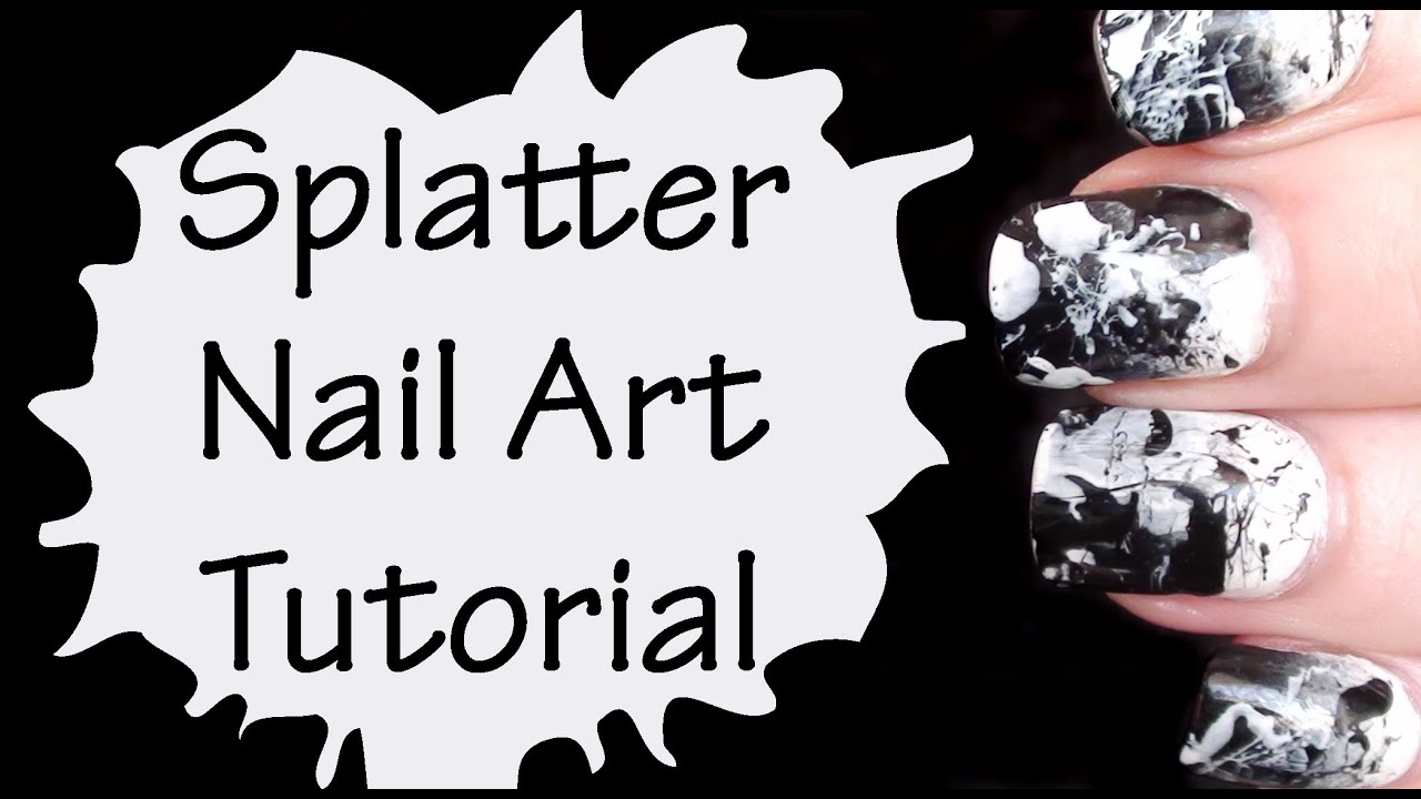 White Splatter Nails Splatter Nail Art Tutorial in