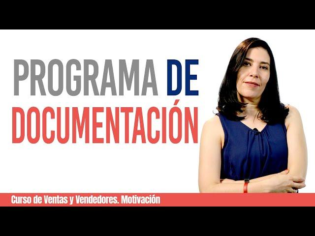 CURSO DE VENTAS Y VENDEDORES, MOTIVACION: #3 Programa de Documentación