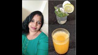 Healthy Summer drinks recipe | Cucumber & Mint water | Weight loss tea | African Iyer's Kitchen