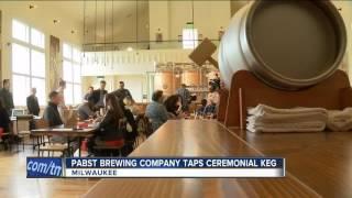 Pabst Brewing Company taps ceremonious keg