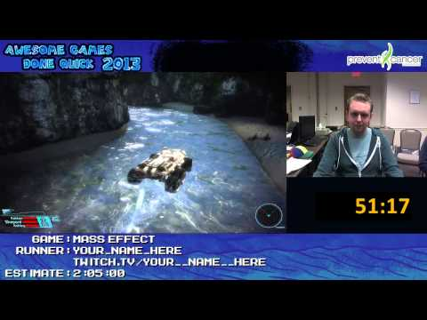 Mass Effect - Speed Run in 1:37:58 by Your_Name_Here *Live at Awesome Games Done Quick 2013 [PC]