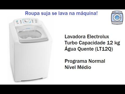 Lavadora Electrolux Turbo Capacidade 12kg - Água Quente (LT12Q) - Nível Médio