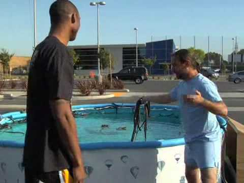 Kobe Bryant Jumps Over Pool w/ Snakes (Black Mambas?)
