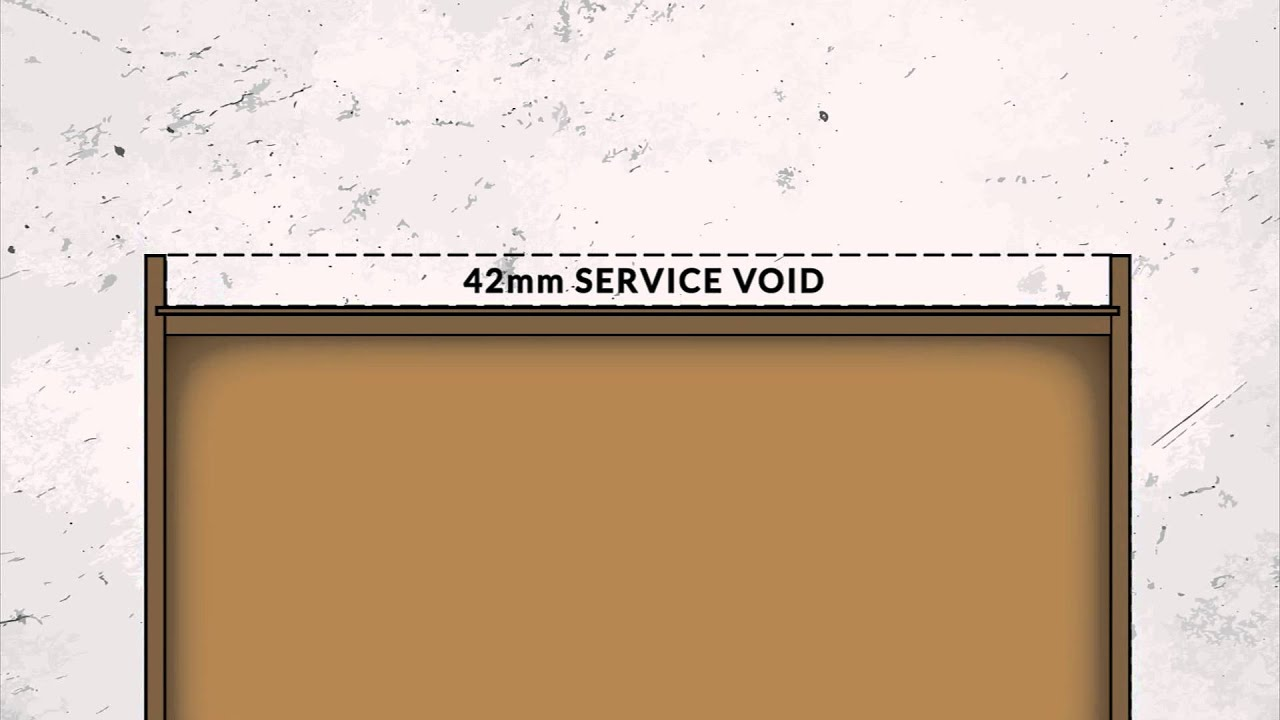 Diy kitchens base unit service void youtube for Service void kitchen units