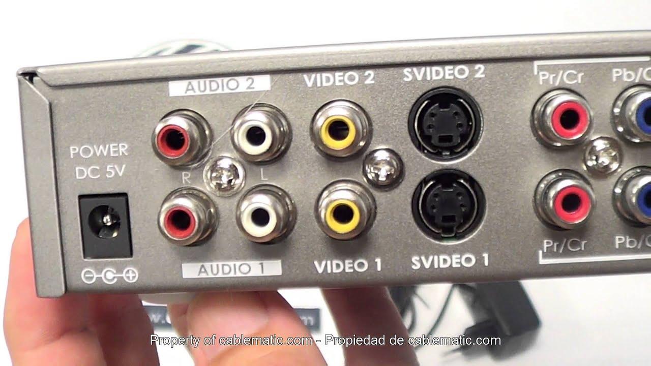 Conversor Y Selector Rca Rgb Vga Hdmi Y S Video A Hdmi 10