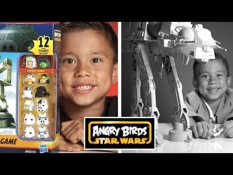 ANGRY BIRDS STAR WARS TOYS!  AT-AT Attack Battle Game + BONUS: Vintage AT-AT Review