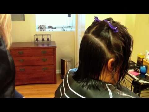 Asymmetrical Haircut with Layers and Texture: Hair Tutorial: Razor Cut