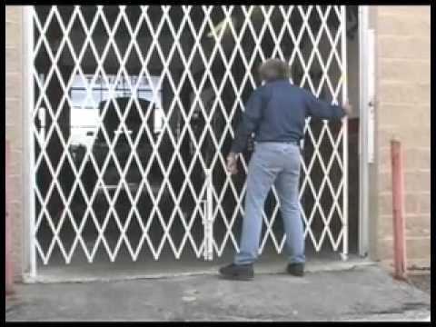 Folding Security Gates Scissor Gate 800 763 9020 Youtube