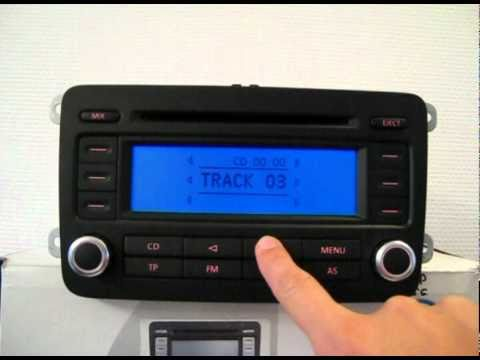 volkswagen radio rcd300 code en basics beheren instellingen rcd300 youtube. Black Bedroom Furniture Sets. Home Design Ideas