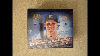 2017 Topps Chrome Baseball - JUMBO Hobby Box - Five Autographs