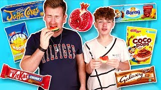 TRYING FOODS MY BROTHER DOES ACTUALLY LIKE