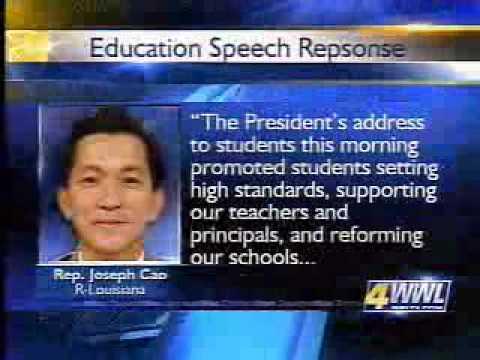 Obama Presidential Speech to Obama Education Speech