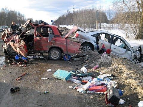 Подборка ДТП. Лобовые столкновения/ Подборка самых страшных аварий