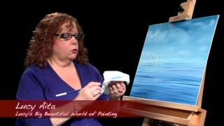 Lucys Big Beautiful World of Painting, Sailboat Scene