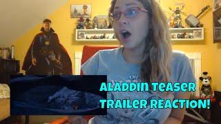 Aladdin (2019) Official Teaser Trailer REACTION!