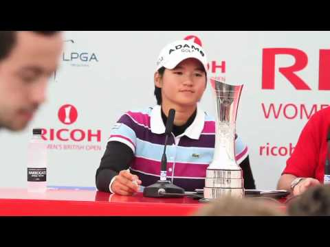 Yani Tseng interview after capturing the 2010 Ricoh Womens British Open Championship Video