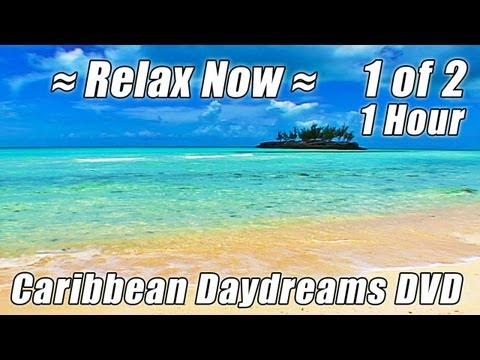 CARIBBEAN VACATION #1 Relaxing Virtual Beach Soothing Ocean Video Waves Sounds HOUR Playlist