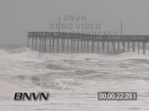 5/6/2005 Virginia Beach, VA - Nor' Easter stock video