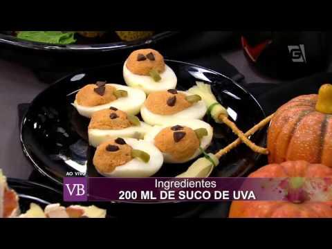 Você Bonita - Culinária Saudável: Petiscos para Halloween (30/10/15)