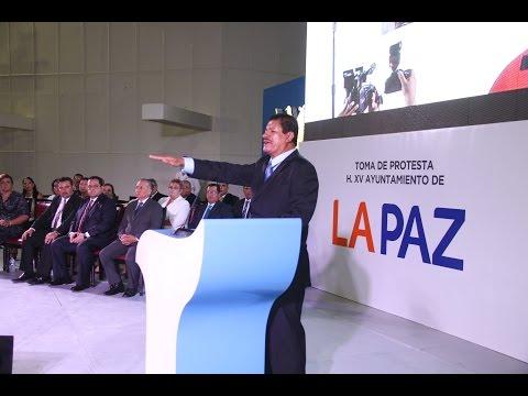 TOMA DE PROTESTA DE ARMANDO MARTÍNEZ VEGA PRESIDENTE MUNICIPAL DE LA PAZ