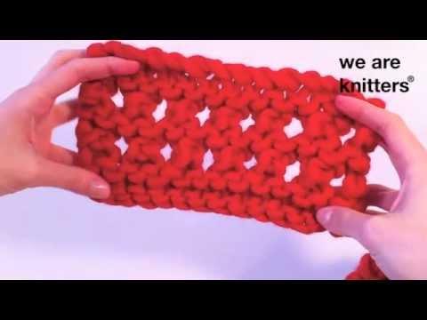 Aprende a tejer punto calado con este videotutorial de WE ARE KNITTERS