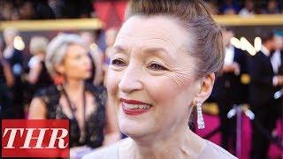 'Phantom Thread's' Lesley Manville | Oscars Red Carpet 2018