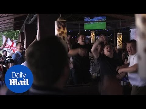 England fans in Russia celebrate Germany crashing out of World Cup - Daily Mail