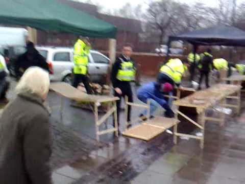Police & Trading Standards Raid Brownhills Market For Pirate DVDs