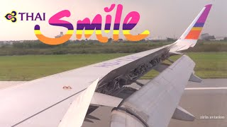 Thai Smile Airways Airbus A320-232 Landing Bangkok Suvarnabhumi-BKK (WE005)