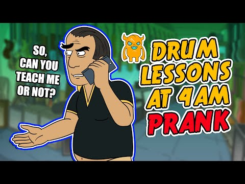 Drum Lessons At 4am Prank - Ownage Pranks video