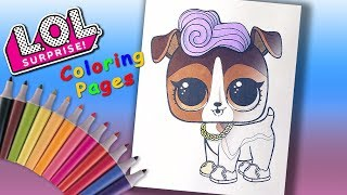 LOL Surprise Doll Pets Coloring Book For Girls. DJ K9 Coloring Page for kids