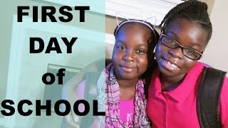 FIRST DAY OF SCHOOL (2016-2017) 3rd and 6th Grade | VEDA DAY 24 | DNVlogsLife (Morning Routine)