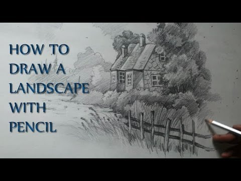 How to draw a landscape