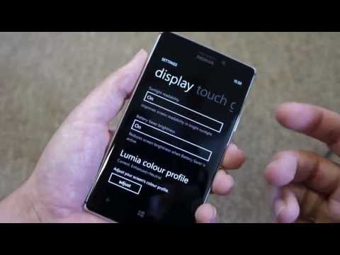 Nokia Glance Screen and display settings on Lumia 925