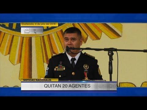 PNC confirma el retiro de 20 agentes del contingente que apoya a la CICIG   06Jul