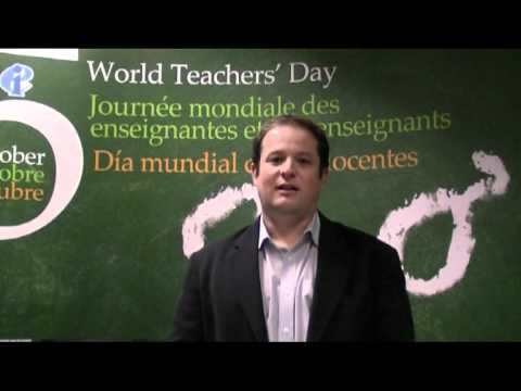 World Teachers' Day- EI Deputy General Secretary David Edwards Address
