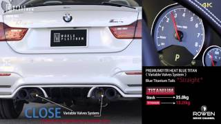 BMW M4(F82) Full Titanium Exhaust Sound(Full Straight) by WORLD PLATINUM (Produced by Rowen Japan).