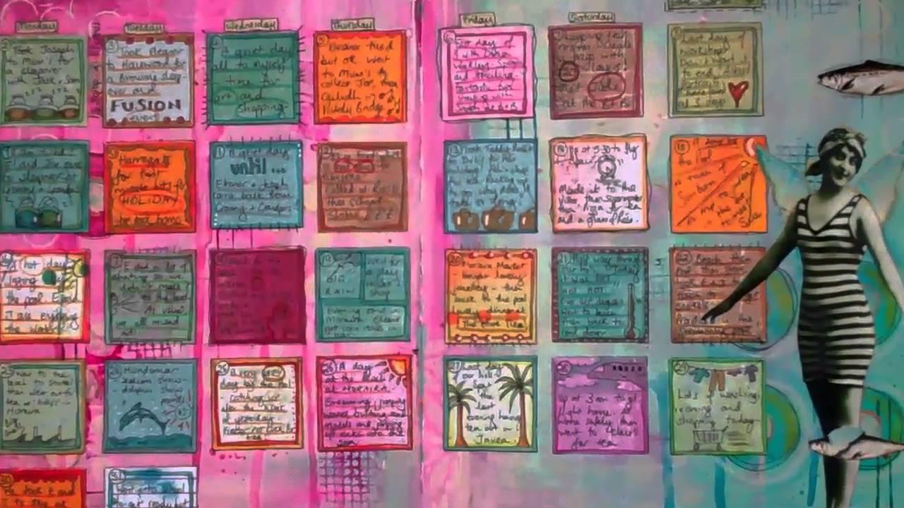Art Journal Calendar Pages : Art journal calendar pages youtube